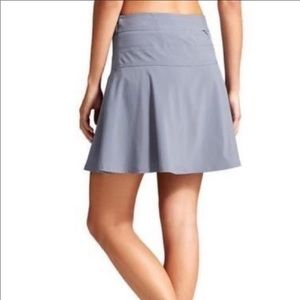 Athleta Everyday Skort Skirt Blue Gray Size 4